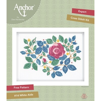 Anchor by Dee Hardwicke - Rose Garden Cross Stitch Kit