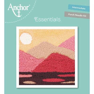 Anchor Essentials Punch Needle Kit - Tranquil mountain (15 x 15 cm)
