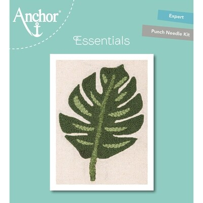 Anchor Essentials Punch Needle Kit - Monstera Leaf (20 cm)