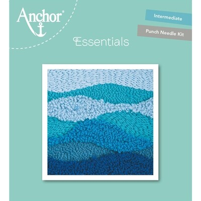 Anchor Essentials Punch Needle Kit - Blue Wave (15 x 15 cm)