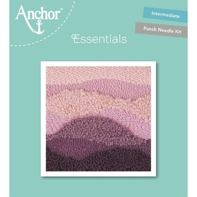 Anchor Essentials Punch Needle Kit - Mauve Wave (15 x 15 cm)