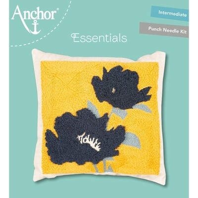 Anchor Essentials Punch Needle Kit - Floral cushion 30 x 30 cm