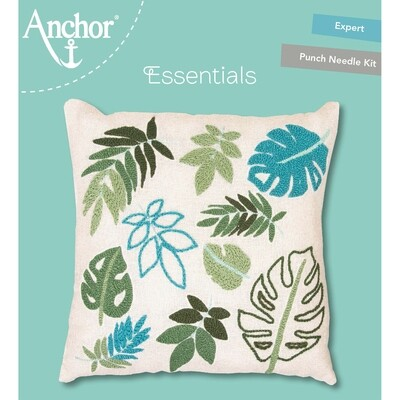 Anchor Essentials Punch Needle Kit - Palm Leaf Cushion 40 x 40 cm