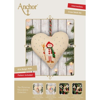 The Christmas Decorations Collection - Festive Door Hanger Snowman