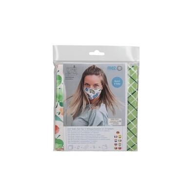 Kit de Costura DIY - 3 Máscaras Comunitárias (3 padrões da coleção Tutti Fruitt)