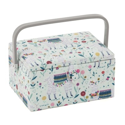 Sewing Box Medium - Llama