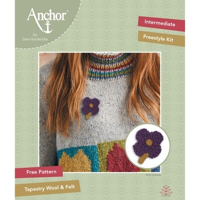 Anchor by Dee Hardwicke - Plum Flower Freestyle Kit