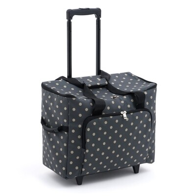 Sewing Machine Trolley Bag - Charcoal Spot