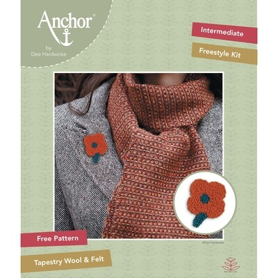 Anchor by Dee Hardwicke - Russet Flower Freestyle Kit
