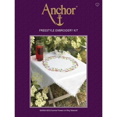 Anchor Essentials Freestyle Kit - Summer Flowers Tablecloth