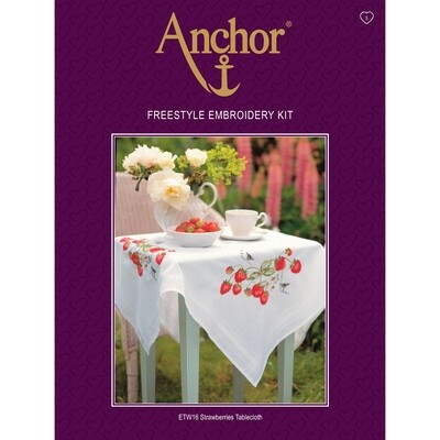 Anchor Essentials Freestyle Kit - Strawberries Tablecloth