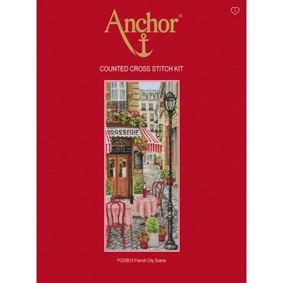 Anchor Essentials Cross Stitch Kit - French City Scene