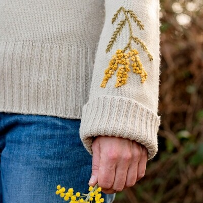 Mimosa Embroidered Sweater