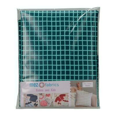 Pre-Cut Cotton - My Baby Love Selection - Grid - Blue (100 x 140 cm)