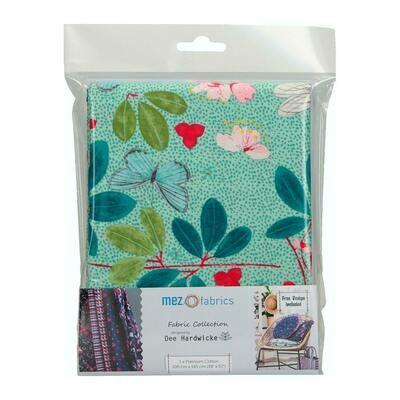 Pre-Cut Cotton - Dee Hardwicke - Spring Blossom - Green (100 x 145 cm)