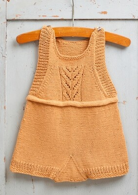 Cable Knit Baby Romper