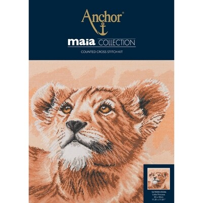 Maia Cross Stitch Kit - Lion Cub - Little Princess