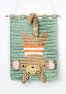 Naughty Monkey Wall Hanging