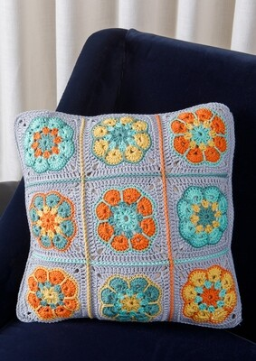 Grey Granny Square Cushion