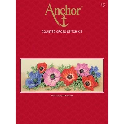 Anchor Starter Cross Stitch Kit - Punch Card Flower