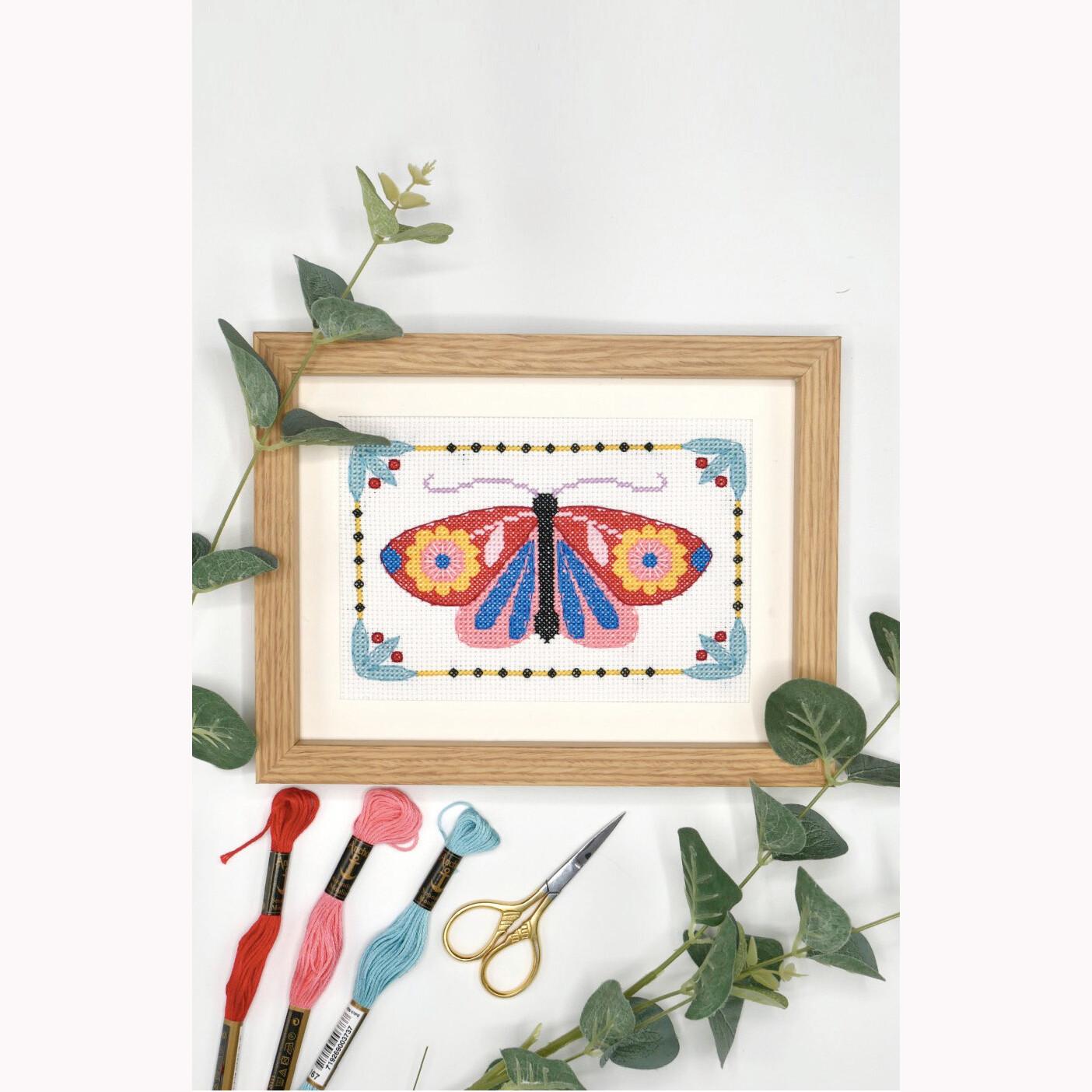 Modelo Butterfly Cross Stitch