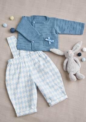 Modelo Baby Light Blue Cardigan with Shorts