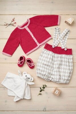 Modelo Pink Cardigan, Bloomers and Booties