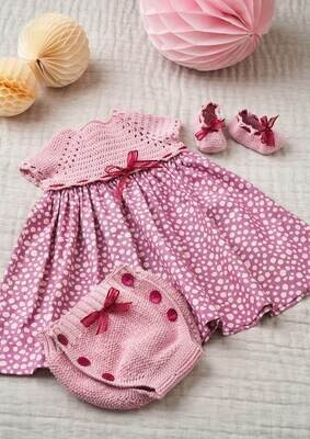 Modelo Baby All Pink Dress, Pants and Booties