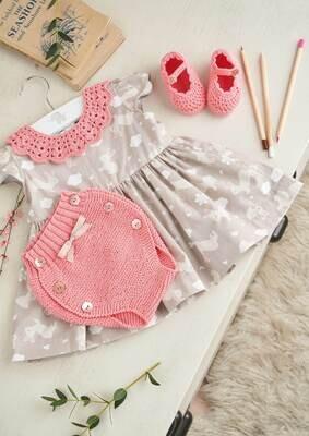 Modelo Girly Pink Baby Collar, Panties and Booties
