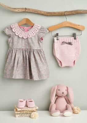 Modelo Light Pink Baby Collar, Pants and Booties