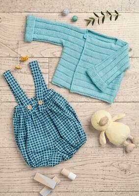 Modelo Baby Blue Cardigan and Shorts