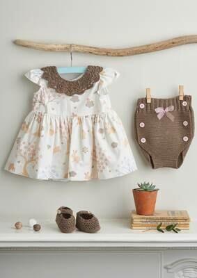 Modelo Brown Baby Collar, Pants and Booties