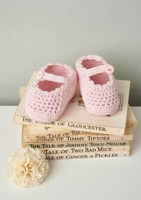 Modelo Crochet Pink Ballerina Booties