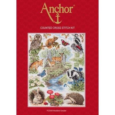 Anchor Essentials Cross Stitch Kit - Woodland Sampler