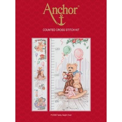 Anchor Essentials Cross Stitch Kit - Teddy Height Chart