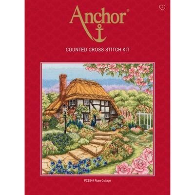 Anchor Essentials Cross Stitch Kit - Rose Cottage