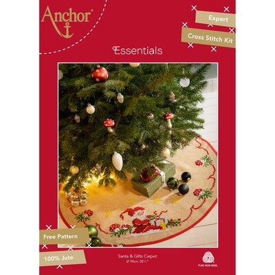 Anchor Essentials Freestyle Kit - Santa and Gifts Christmas Tree Carpet