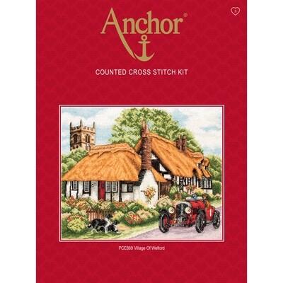 Anchor Essentials Cross Stitch Kit - Village of Welford