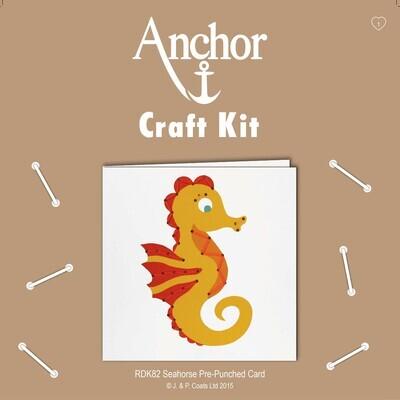 Anchor Craft Kit - Punch Card Seahorse