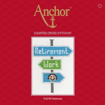 Anchor Essentials Cross Stitch Kit - Retirement