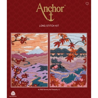 Anchor Starter Long Stitch Kit - Serenity & Tranquility Set 2