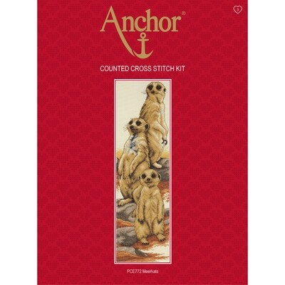 Anchor Essentials Cross Stitch Kit - Meerkats