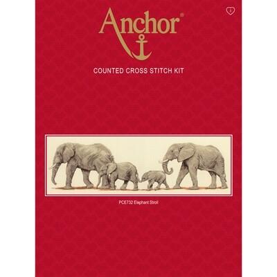 Anchor Essentials Cross Stitch Kit - Elephant Stroll