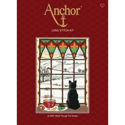 Anchor Starter Long Stitch Kit - Winter through the Window