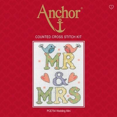 Anchor Essentials Cross Stitch Kit - Wedding Mini Sampler