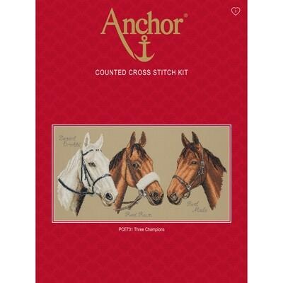 Anchor Essentials Cross Stitch Kit - Three Champions