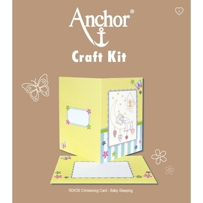 Anchor Craft Kit - Baby Sleeping Card