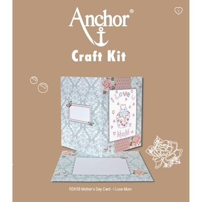 Anchor Craft Kit - I Love U Mom Card