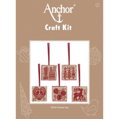 Anchor Craft Kit - Christmas Tags -set 5