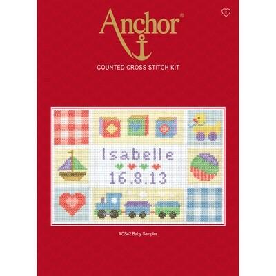 Anchor Essentials Cross Stitch Kit - Baby Sampler